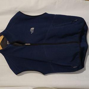 North Face dark blue fleece zip up vest men's extra large
